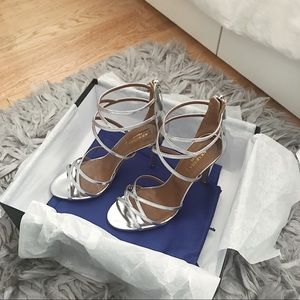 Aquazzura Duchess silver heeled sandals